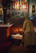 Wnętrze kościóła pw. św. Jerzego  zbudowanego w latach 1899-1901, zlokalizowanego w samym centrum Sopotu (obok ulicy Monte Cassino).