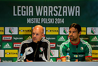 29/07/14 <br /> PEPSI ARENA<br /> WARSAW - POLAND<br /> Legia Warsaw manager Henning Berg and captain Ivica Vrdoljak offers their thoughts to the media ahead of their side's Champions League qualifier against Celtic.