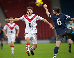 Airdrie's Jack Leitch and Queen's Park Bryan Wharton. Queen's Park 2 v 1 Airdrie, Scottish Football League Division One game played 7/1/2017 at Hampden.