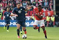 v.l. Jeffrey Bruma, Jhon Cordoba (Mainz)<br /> Mainz, 04.03.2017, Fussball Bundesliga, 1. FSV Mainz 05 - VfL Wolfsburg 1:1<br /> Norway only