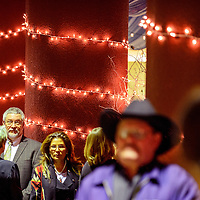 030614  Adron Gardner/Independent<br /> <br /> Guests mingle among the lights during a donor banquet at the University of New Mexico in Gallup Thursday.