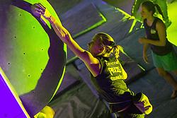 Tjasa Kalan during national championship in boulder climbing on December  2, 2012 in Kranj, Slovenia. (Photo By Grega Valancic / Sportida)