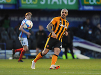 Hull City's Josh Magennis during the game <br /> <br /> Photographer Ian Cook/CameraSport<br /> <br /> The EFL Sky Bet League One - Portsmouth v Hull City - Saturday 23rd January 2021 - Fratton Park - Portsmouth<br /> <br /> World Copyright © 2021 CameraSport. All rights reserved. 43 Linden Ave. Countesthorpe. Leicester. England. LE8 5PG - Tel: +44 (0) 116 277 4147 - admin@camerasport.com - www.camerasport.com