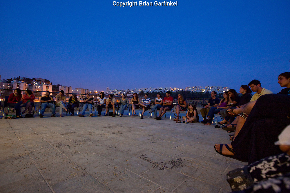 Day 5 - The group meets for Havdallah in Jerusalem (Photo by Brian Garfinkel)