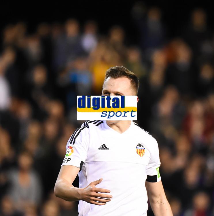 Valencia's    Cheryshev celebrating a goal   during La Liga match. February 13, 2016. (ALTERPHOTOS/Javier Comos)