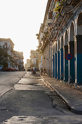 Old town and street scene, Havana, Cuba