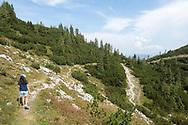 Hiking on Feuerkogel, Traunsee, Salzkammergut, Austria © Rudolf Abraham