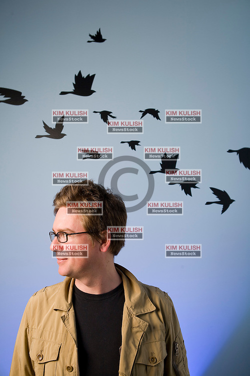 """Isaac """"Biz"""" Stone, co-founder and Creative Director of Twitter, Inc  in  their San Francisco, California headquarters.. Photo by Kim Kulish"""