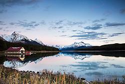 Malingne Lake Sunset, Jasper National Park