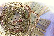 iris twine and cattail mat weaving TEK