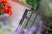 Wrought Iron Front Entry Gate Stock Photo