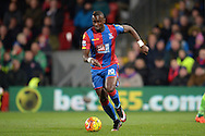 Yannick Bolasie of Crystal Palace in action. Barclays Premier league match, Crystal Palace v Sunderland at Selhurst Park in London on Monday 23rd November 2015.<br /> pic by John Patrick Fletcher, Andrew Orchard sports photography.