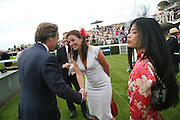 The Earl of March, Davina McCall and Vanessa Mae, Glorious Goodwood. 2 August 2007.  -DO NOT ARCHIVE-© Copyright Photograph by Dafydd Jones. 248 Clapham Rd. London SW9 0PZ. Tel 0207 820 0771. www.dafjones.com.