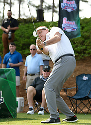 Auburn head football coach Gus Malzahn during the Chick-fil-A Peach Bowl Challenge Closest to the Pin Skills Competition at the Ritz Carlton Reynolds, Lake Oconee, on Monday, April 29, 2019, in Greensboro, GA. (Dale Zanine via Abell Images for Chick-fil-A Peach Bowl Challenge)