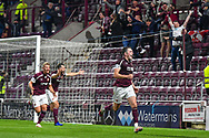 GOAL 2-1 John Souttar (#4) of Heart of Midlothian FC celebrates after scoring Hearts second goal during the Cinch SPFL Premiership match between Heart of Midlothian FC and Celtic FC at Tynecastle Park, Edinburgh, Scotland on 31 July 2021.