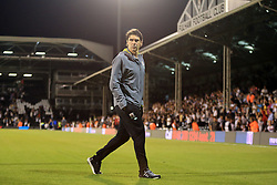 24 August 2016 - EFL Cup - 2nd Round - Fulham v Middlesbrough - Aitor Karanka manager of Middlesbrough walk from the pitch at Craven Cottage after the defeat - Photo: Marc Atkins / Offside.