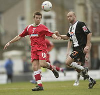 Photo: Aidan Ellis.<br /> Grimsby Town v Swindon Town. Coca Cola League 2. 17/03/2007.<br /> Swindon's Michael Pook (L) and Grimsby's James Hunt