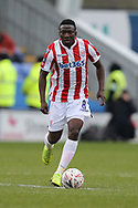 Stoke City midfielder Oghenekaro Etebo (8) during the The FA Cup 3rd round match between Shrewsbury Town and Stoke City at Greenhous Meadow, Shrewsbury, England on 5 January 2019.
