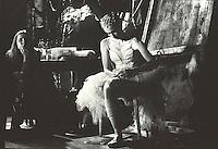 Deirdre Chapman in the wings before Act II of Swan Lake. Mariinsky Theatre,St. Petersburg, Russia<br /> <br /> Music: Pietr Ilyich Tchaikovsky