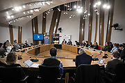 Photographing a round table meeting event for the BHF British Heart Foundation at Holyrood Parliament in Edinburgh