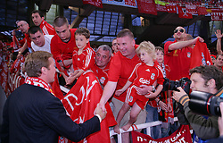 Athens, Greece - Wednesday, May 23, 2007: Liverpool's co-owner Tom Hicks' son Tom Hicks Junior before the UEFA Champions League Final against AC Milan at the OACA Spyro Louis Olympic Stadium. (Pic by David Rawcliffe/Propaganda)