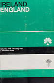 Rugby 1967 - 11/02 Five Nations Ireland Vs England