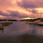 """Dawn at Charlevoix Marina""<br /> <br /> Sunrise at the beautiful Charlevoix City Marina!"