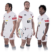 Teams take part in a photoshoot prior to the 2020 inaugural Los Angeles Sevens at Dignity Sports Health Park in Los Angeles, California. <br /> <br /> © Jack Megaw, 2020