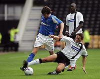 Photo: Paul Thomas. Derby County v Birmingham City, Pre season friendly, Pride Park, Derby. 23/07/2005. Muzzey Izzet and Tommy Smith.