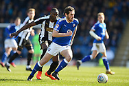 Chesterfield midfielder Jak McCourt (26) during the EFL Sky Bet League 2 match between Chesterfield and Notts County at the b2net stadium, Chesterfield, England on 25 March 2018. Picture by Jon Hobley.