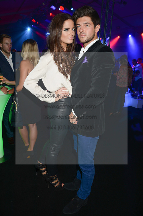 BINKY FELSTEAD and ALEX MYTTON at a party to celebrate the 1st birthday of nightclub 2&8 at Mortons held in Berkeley Square, London on 3rd October 2013.