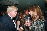 BORIS JOHNSON, Party to celebrate the publication of 'Winter Games' by Rachel Johnson. the Draft House, Tower Bridge. London. 1 November 2012.