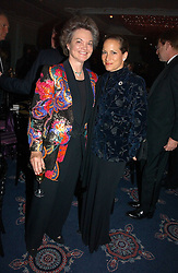 Left to right, the DOWAGER DUCHESS OF BEDFORD and PRINCESS ZAHRA AGA KHAN at the Cartier Racing Awards 2006 held at the Four Seasons Hotel, Hamilton Place, London on 15th November 2006.<br /><br />NON EXCLUSIVE - WORLD RIGHTS
