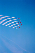 Red Arrows aerobatic flight, UK