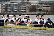 Putney, London, Pre Boat Race Fixture, <br /> <br /> Oxford University Boat Club {OUBC}v [Mandatory Credit; Intersport Images]<br /> River Thames, Championship Course Putney to Mortlake, Sunday 26/02/2017, <br /> <br /> Oxford on Surrey, Crew, Bow William Warr, 2 Matthew O'Leary, 3 Oliver Cook, 4 Josh Bugajski, 5 Olivier Siegelaar, 6 Mike DiSanto, 7 James Cook, Stroke Vassilis Ragoussis, Cox Sam Collier.