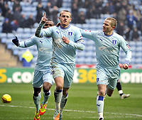 Football- Championship- Coventry City v Ipswich Town<br />Sammy Clingan and Gary McSheffrey celebrate 1st goal