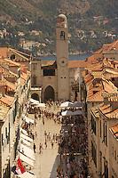 Dubrovnik, Croatia..The main street in the old town, Placa Stradun ..August, 2007
