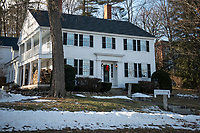 Paul and Kristen Eldridge's home in Meredith built in 1828 has been in the Eldridge family since their great, great, great grandfather.  (Karen Bobotas Photo/for The Laconia Daily Sun)