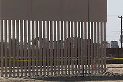 October 13, 2017 - San Diego, California, U.S. - A view looking through one of the  completed entries in to the border wall prototype competition at Otay Mesa in San Diego.  One of the features that agents wanted was the ability to see through the wall.  (Credit Image: © John Gibbins/San Diego Union-Tribune via ZUMA Wire)
