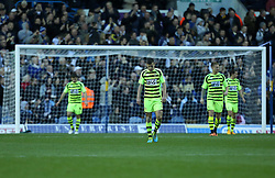 Yeovil players show their dejection after the first goal-Photo mandatory by-line: Matt Bunn/JMP - Tel: Mobile: 07966 386802 02/11/2013 - SPORT - FOOTBALL - Elland Road - Leeds - Leeds United v Yeovil Town - Sky Bet Championship