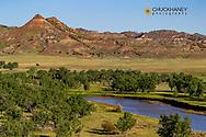 The Powder River  in Powder River County, Montana, USA