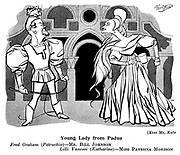 At The Play ;  Coliseum<br />  Theatre ; Kiss Me, Kate : Bill Johnson and Patricia Morison
