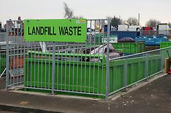 Landfill skip at the Tipsmart recycling centre at Calverton,