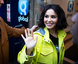 Cheryl arrives at Global Radio in Leicester Square, London, to appear on Capital Breakfast with Roman Kemp.