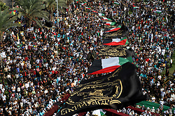 October 21, 2016 - Gaza, Gaza Strip, Palestinian Territory - Palestinians attend a rally marking the 29th anniversary of the foundation of the Islamic Jihad movement in Gaza City October 21, 2016  (Credit Image: © Abed Rahim Khatib/APA Images via ZUMA Wire)
