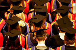 Embargoed to 0001 Thursday June 29 File photo dated 19/10/15 of a graduation ceremony, as figures suggest that rising numbers of poor students are dropping out of university before finishing their degree.