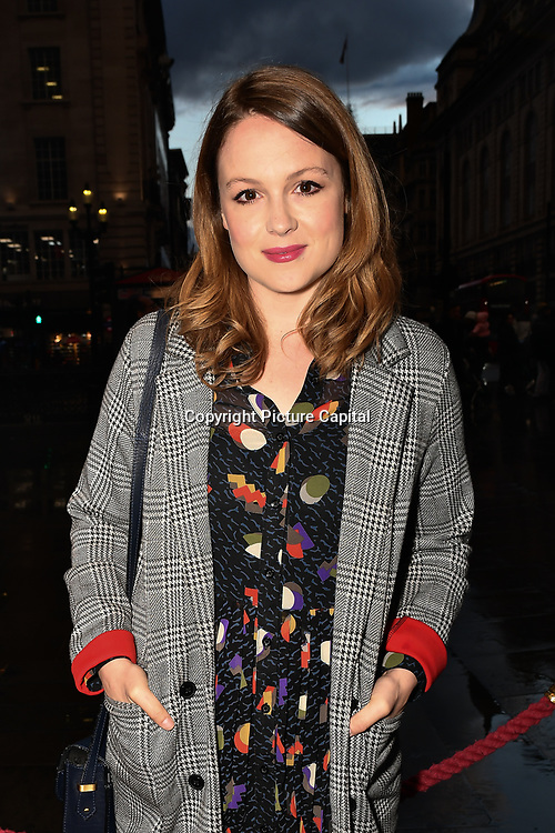 Kimberley Nixon is a Welsh actress attend The Comedy About a Bank Robbery at Criterion Theatre, Piccadilly Circus, London, UK. on 2nd April 2019.