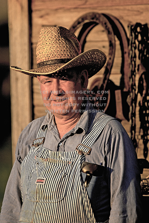 Candid portrait of a farmer, Waitsburg, Palouse, eastern Washington, Pacific Northwest, model and property released by Randy Wells