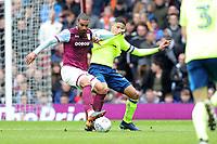 Aston Villa v Derby County - Sky Bet Championship<br /> BIRMINGHAM, ENGLAND - APRIL 28 :  Derby's Curtis Davies, has his shirt pulled by Aston Villa's, Lewis Grabban