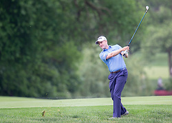 June 1, 2018 - Dublin, OH, U.S. - DUBLIN, OH - JUNE 01: Russell Knox hits out of the rough during the second round of the Memorial Tournament at Muirfield Village Golf Club in Dublin, Ohio on June 01, 2018.(Photo by Jason Mowry/Icon Sportswire) (Credit Image: © Jason Mowry/Icon SMI via ZUMA Press)